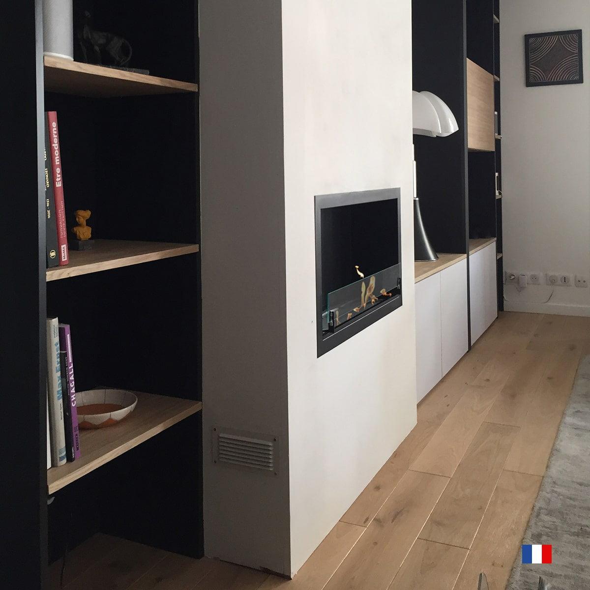 Cheminee Ethanol Murale Bordeaux Encastrable Paris Cheminees