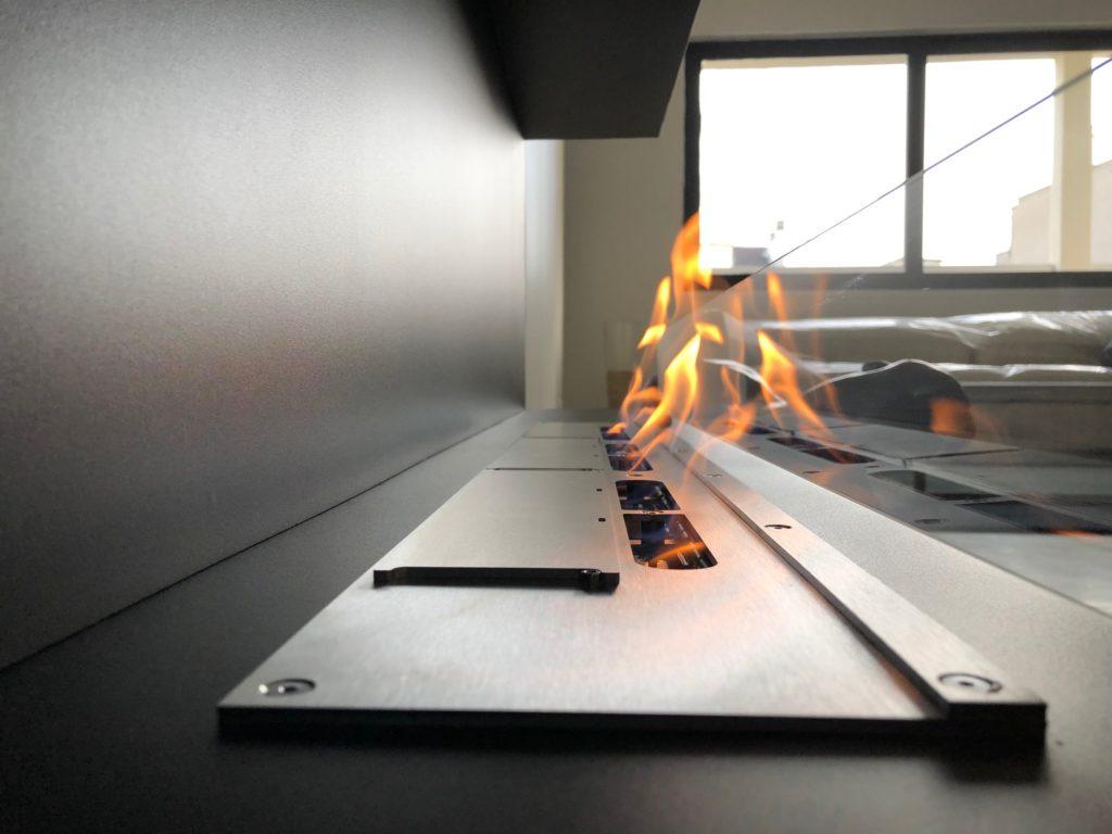 Flamme d'éthanol