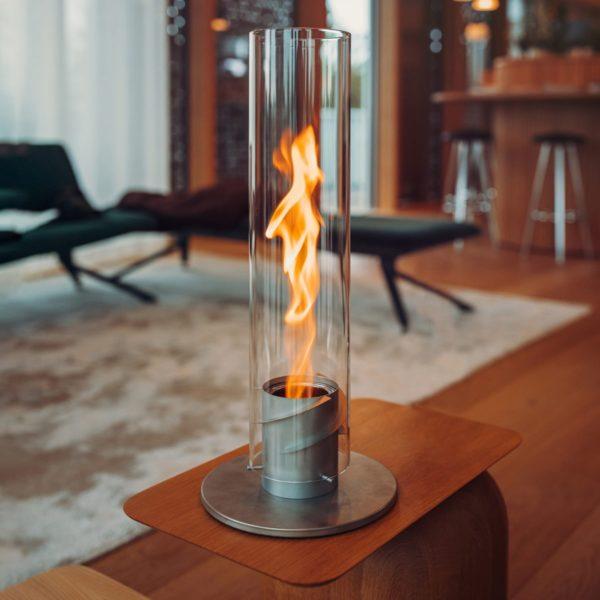 cheminée éthanol torche